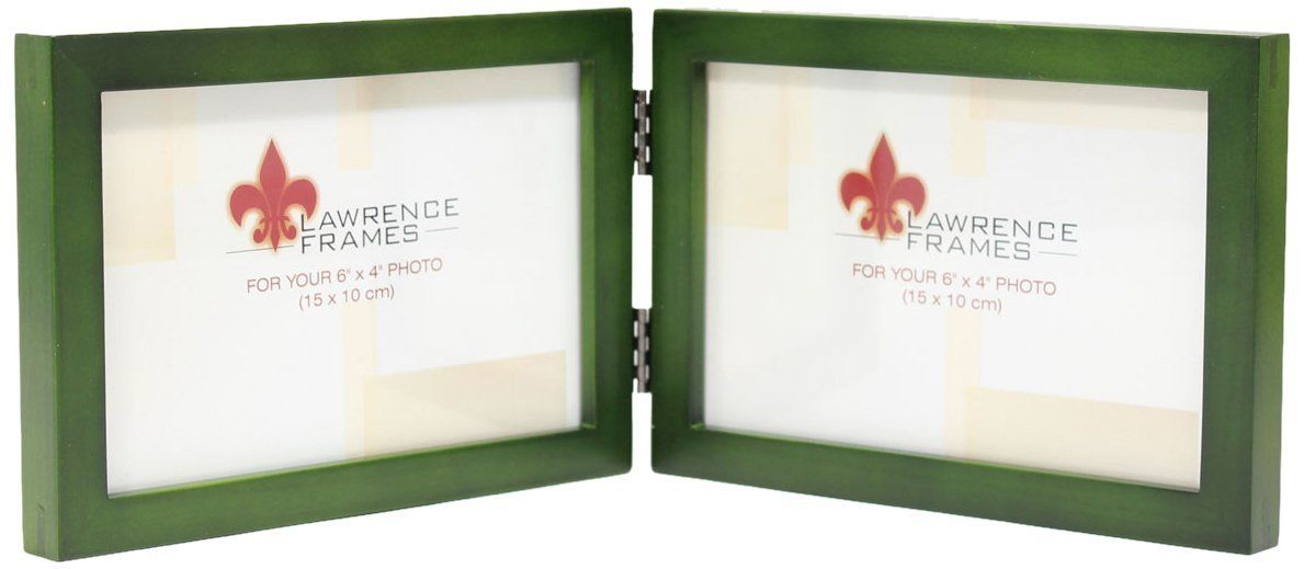 Lawrence Frames Collection Hinged Double Horizontal Wood Picture Frame Gallery 4 By 6 Inch Green Picture Frame Gallery Lawrence Frames Wood Picture Frames