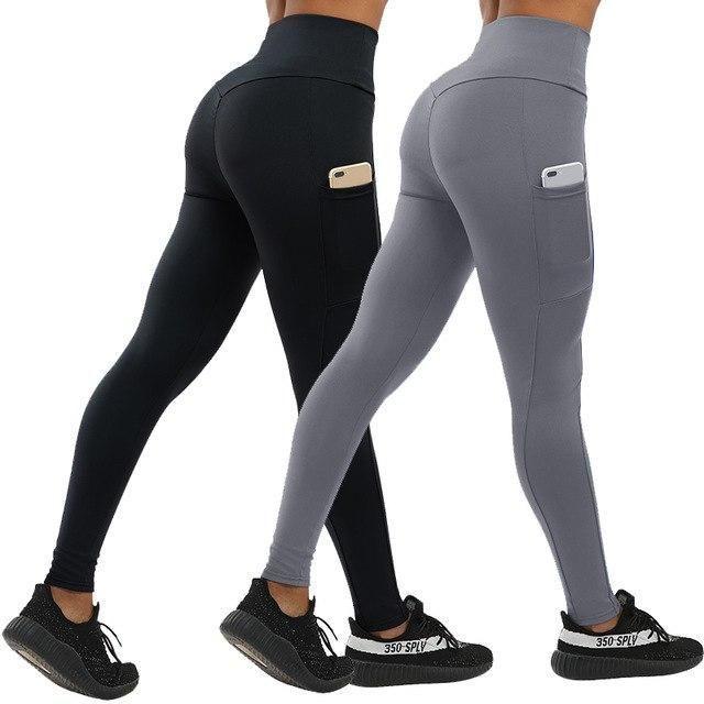 2Pcs Push Up Fitness Leggings Women With Pockets High Waist Workout Women Legging Patchwork Leggings...
