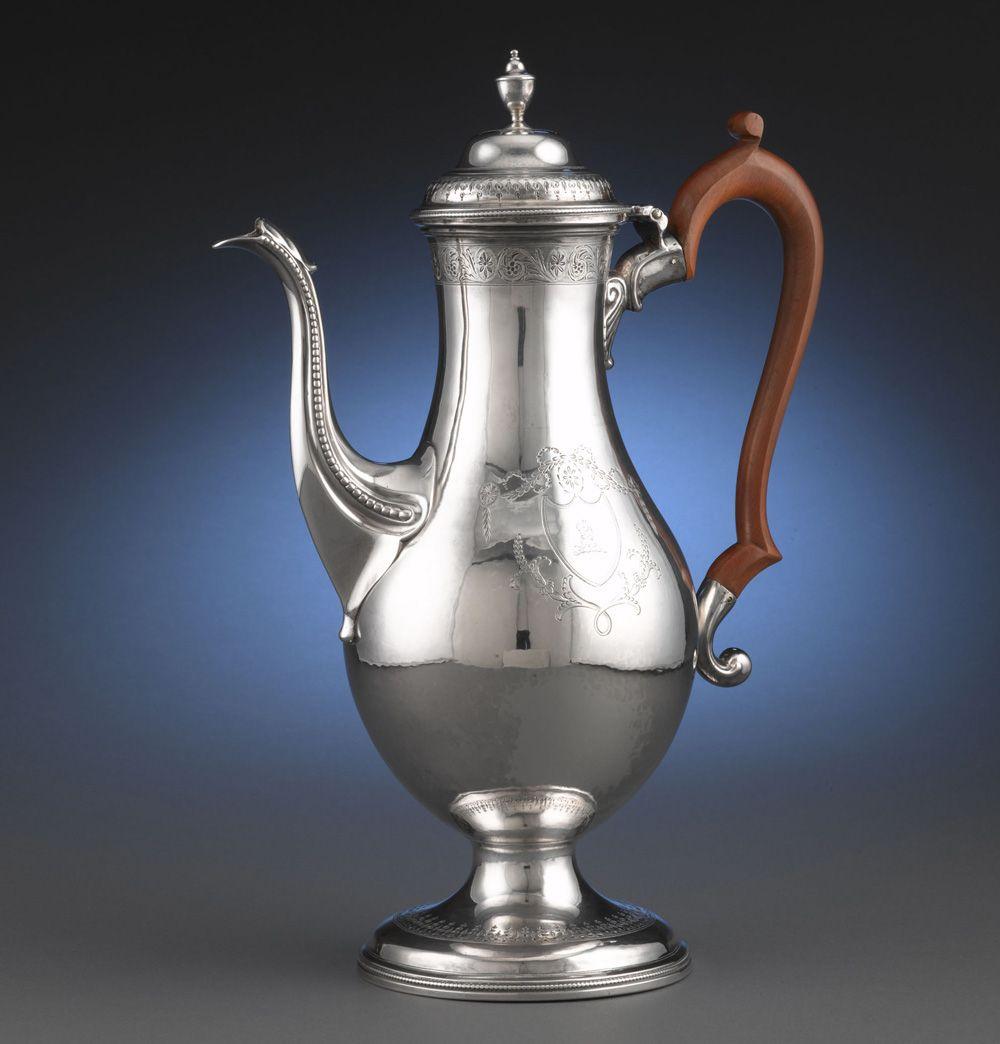 Hester bateman silver coffee pot large antique sterling
