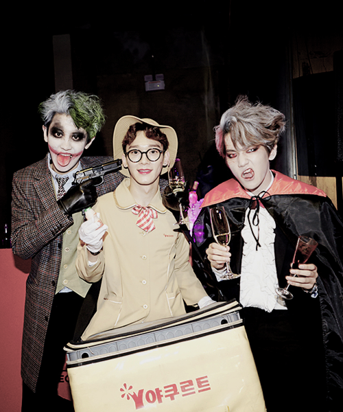 Happy Halloween From Beagle Line Baekhyun Chanyeol Kpop Exo