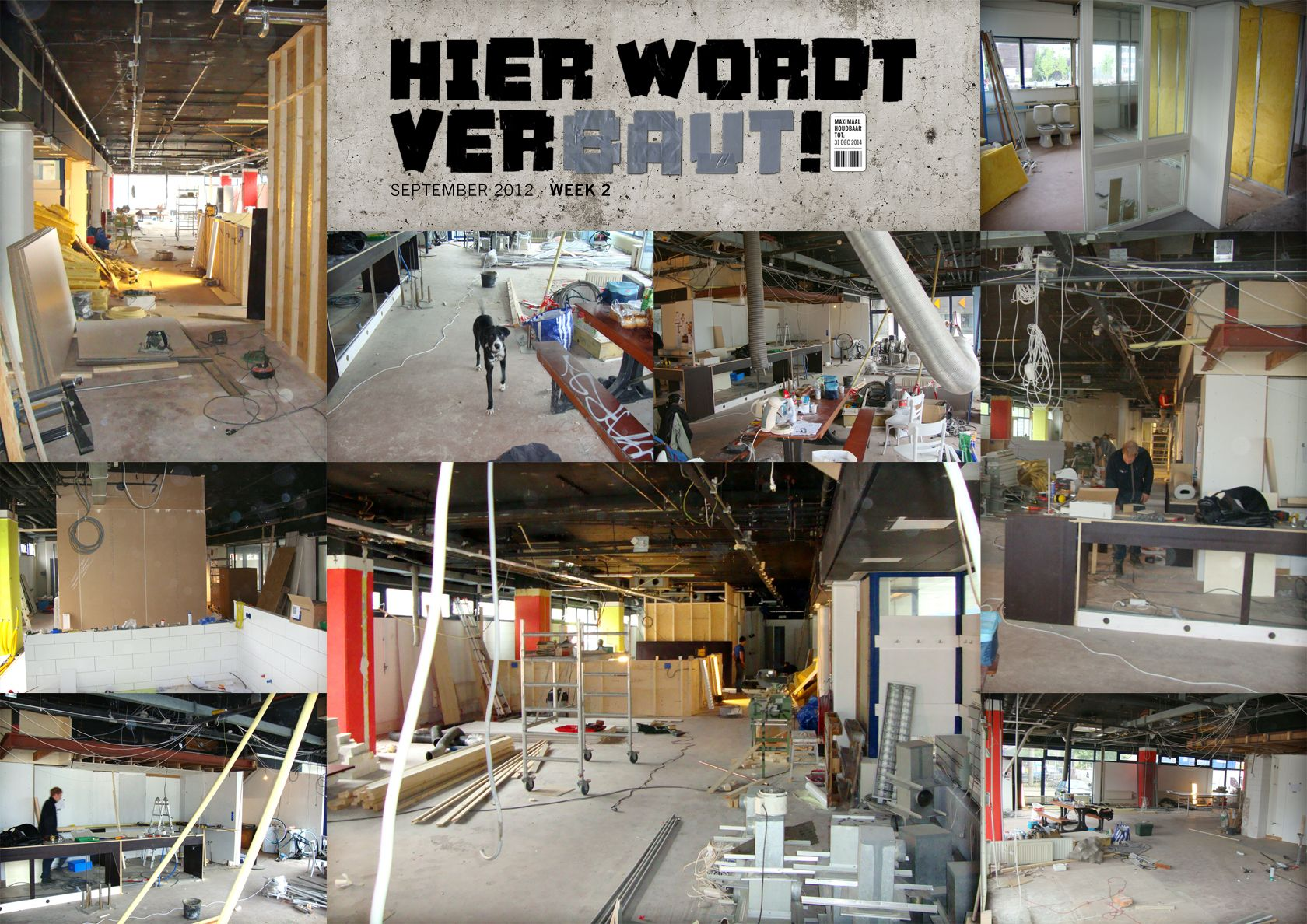 Working @ Baut Week 2 @ BAUT, Wibautstraat 125, Amsterdam. The amazing restaurant opening the 12th of october!!