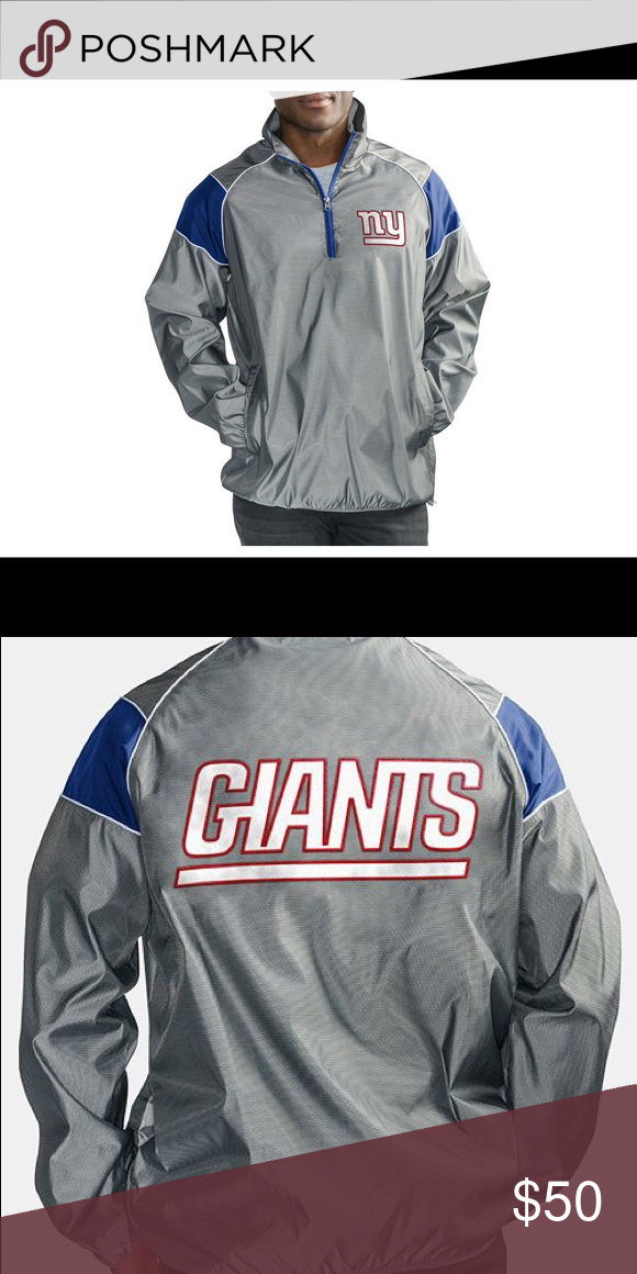 f984af011 New York Giants G-lll NFL Fade Pullover Jacket Show your team spirit on and