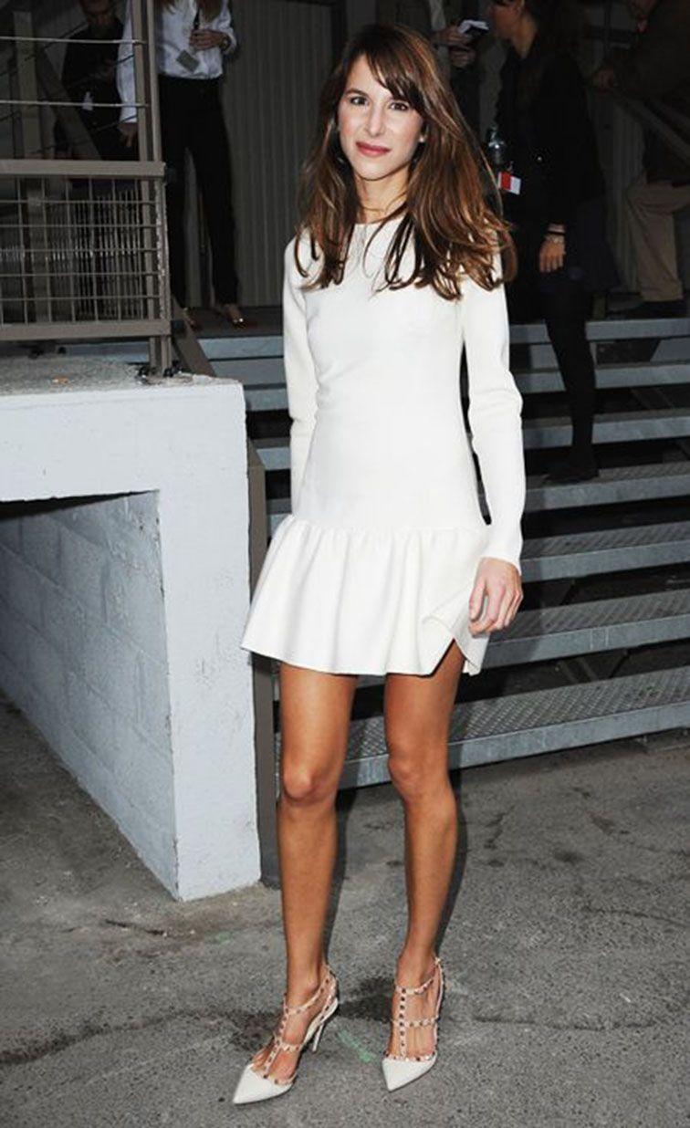 2ea9854b925 Caroline Sieber in White Valentino dress   Rockstud pumps ...