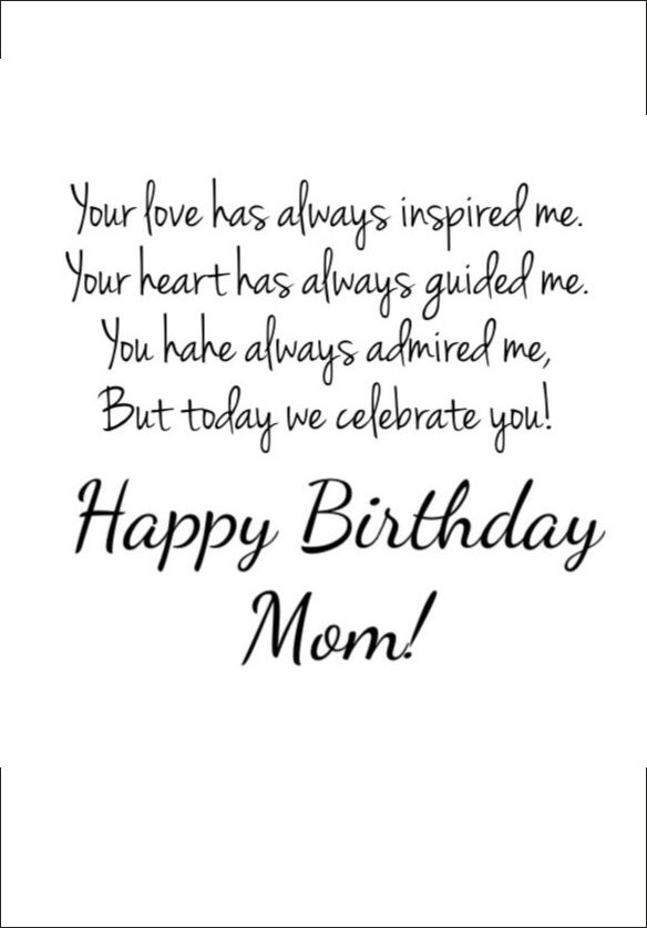 Happy Birthday Mom Poems That Will Make Her Cry 6