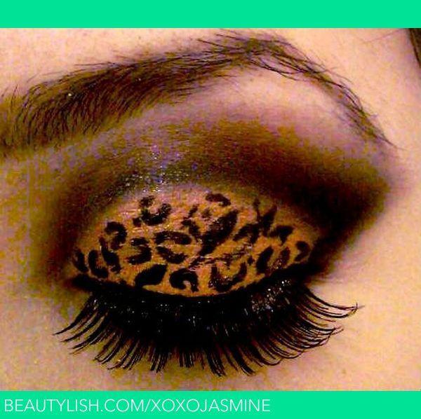 Cheetah Print Smokey Eye Eyeshadow Makeup Fashion Makeup Smokey