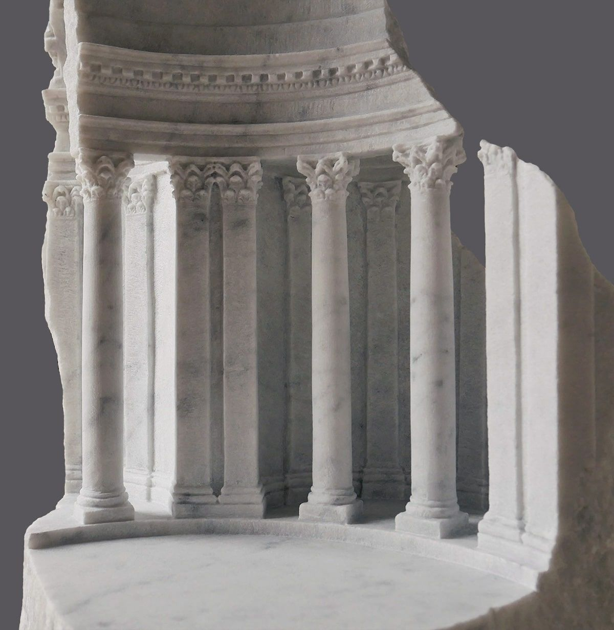 Amazing Architectural Interiors And Detailed Objects Carved Into Raw Marble Blocks Architectural Sculpture Stone Sculpture Stone Architecture