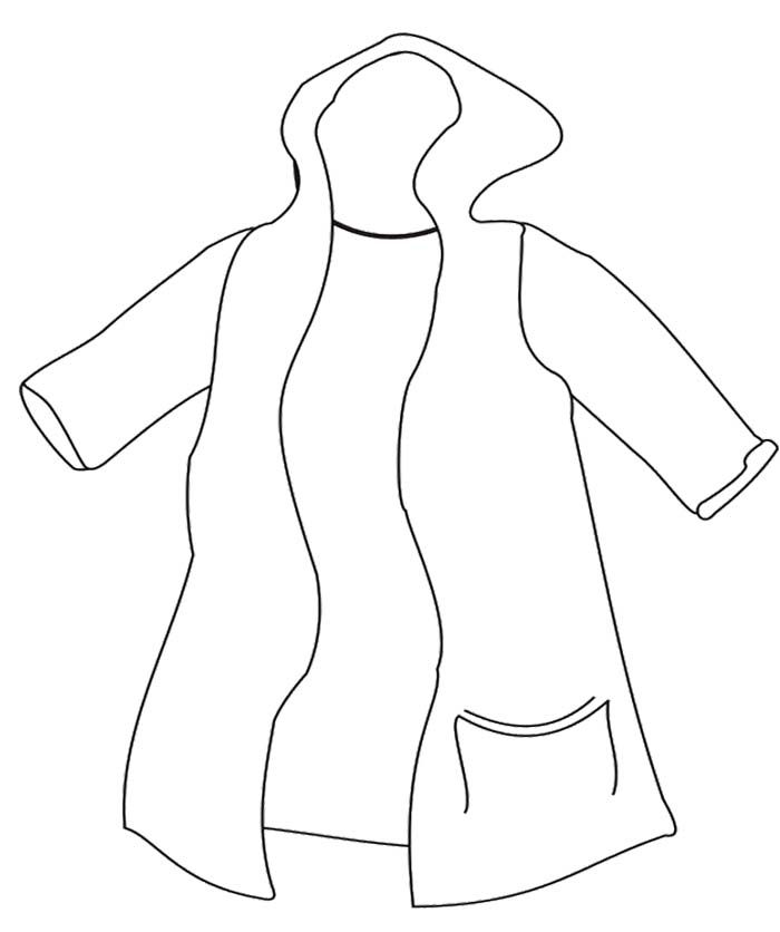 Rain Coat Most Delicious Used Winter Coloring Page Coloring