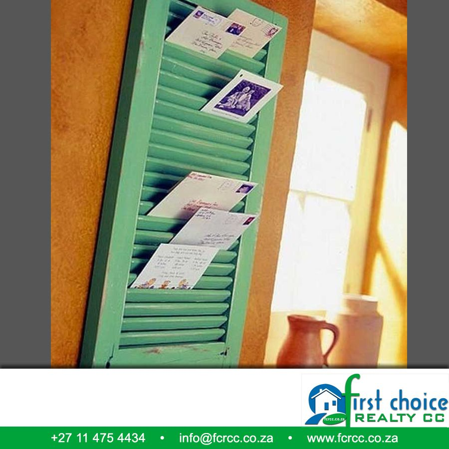 Here's a great DIY for this weekend and it's easy. Get a window shutter and turn it into a mail holder.  Visit our website: besociable.link/4g #DIY  #Home #mailholder