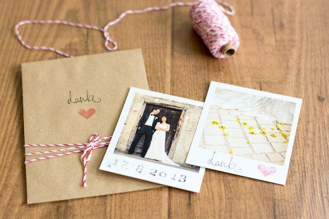 Vintage DIY Schicke Dankeskarten für eure Hochzeit basteln