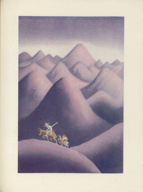 Albert Dubout Don Quixote and Sancho in search of adventures L'Ingénieux Hidalgo Don Quichotte de la Manche (1951-Paris-Valois)