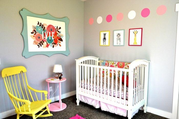 babyzimmer mädchen einfaches design tolle dekoration buntes bild ... | {Babyzimmer mädchen 81}