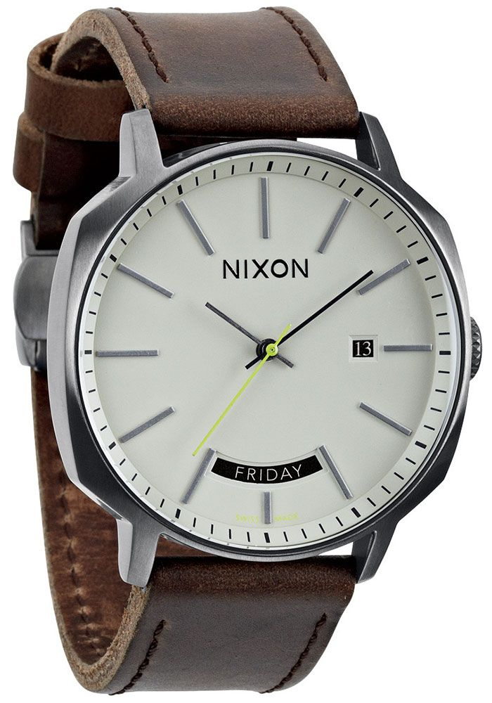 9a355132d2f Nixon Regent Automatic Gunmetal Brown