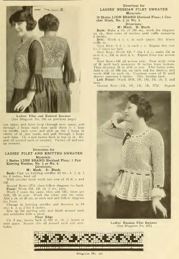 1920's Latest Fashions knitting patterns with photos pdf ...