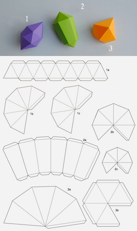 объёмная снежинка схема для печати