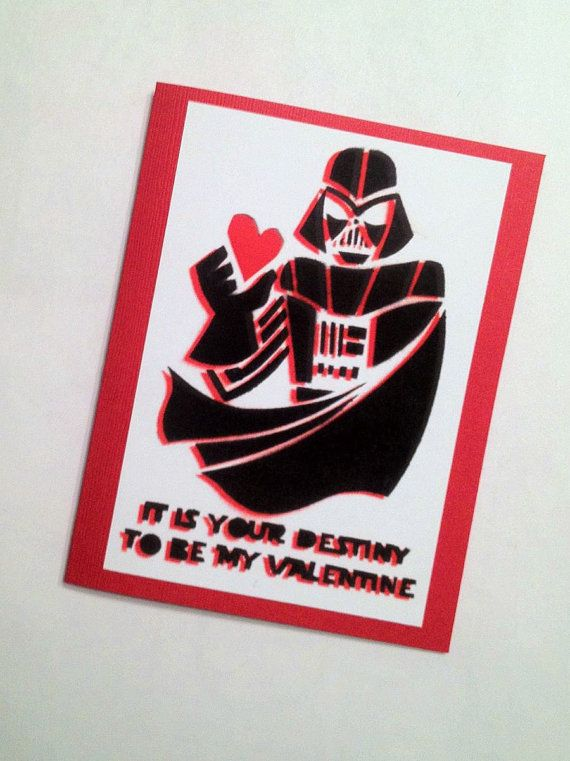 Schön Star Wars Darth Vader Valentineu0027s Day Card By LeaseAPenny On Etsy, ...