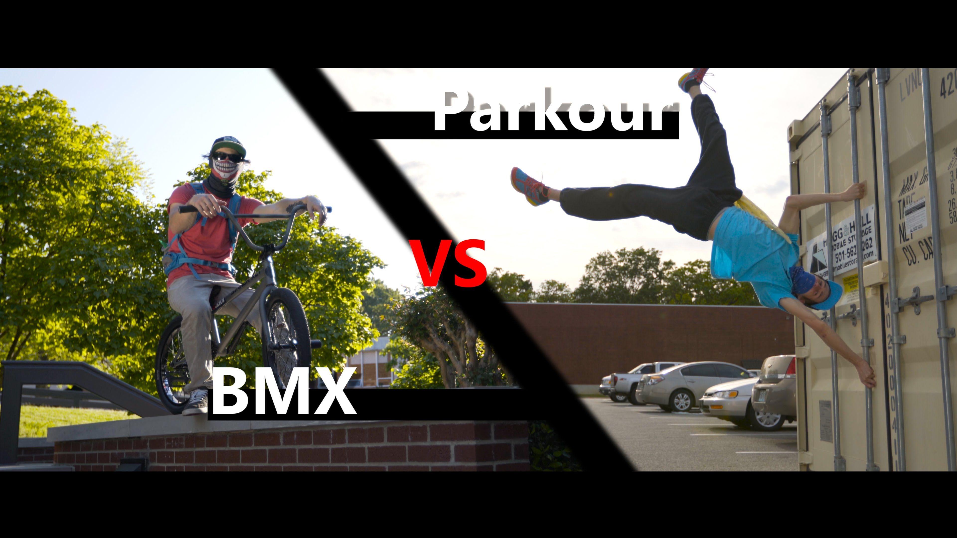 Parkour Vs Bmx Race In 4k With Beyond Boundaries Parkour