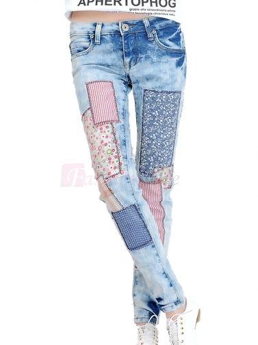 Leisure Women's Applique Grinding Low-waist Pencil Pants Jean on fashionsure.com