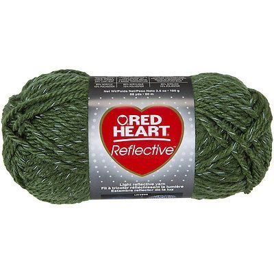 Red Heart Reflective Acrylic Yarn in Olive Green Tracer Yarn ...