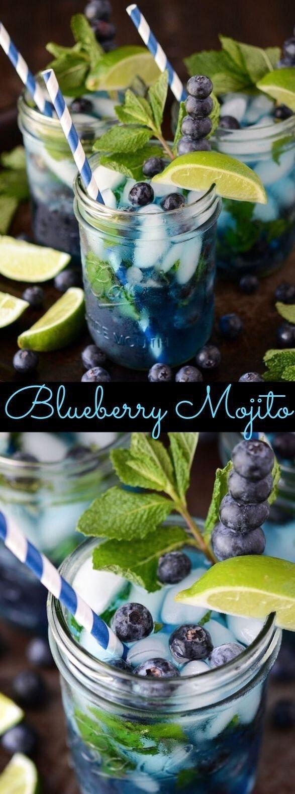 Blueberry Mojito | The Novice Chef