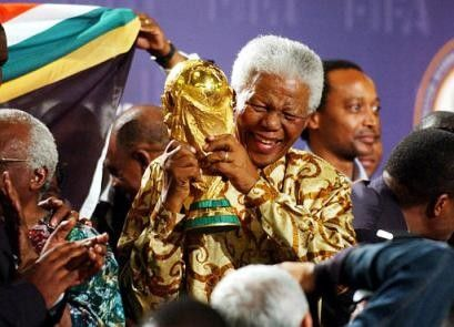 Nelson Mandela At The 1995 Rugby World Cup Afrika