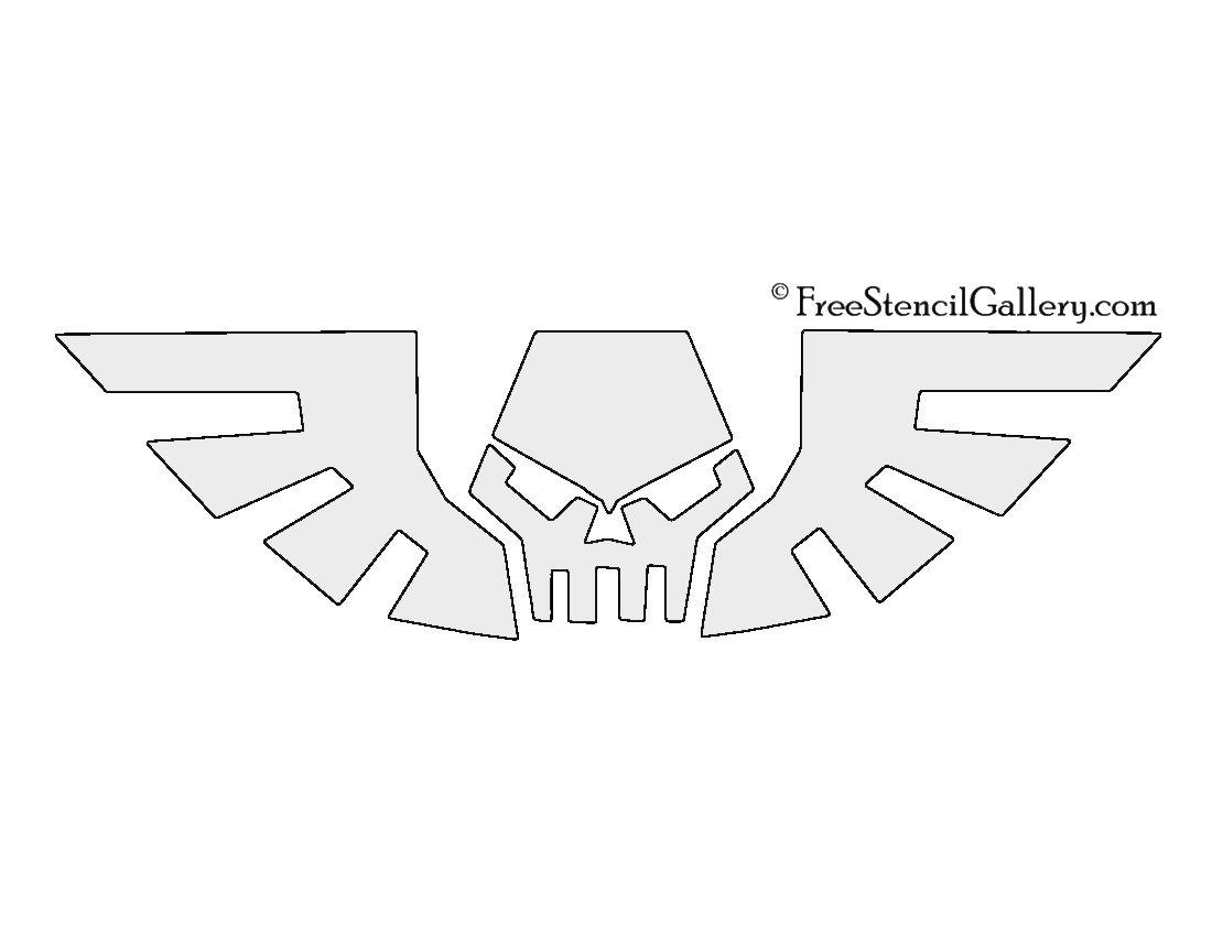 Warhammer 40k Imperialis Symbol Stencil Warhammer 40k Warhammer Stencils [ 850 x 1100 Pixel ]