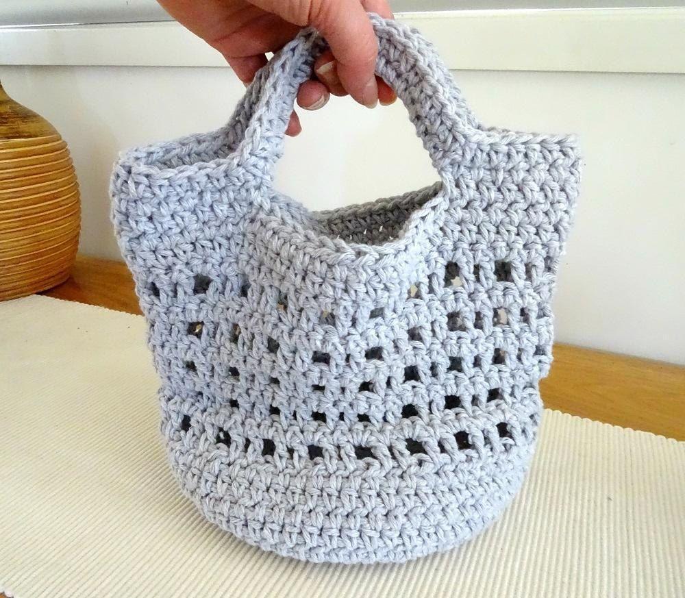 Crochet Cotton Tote Bag Crochet Pattern By Rhinestone Mumma