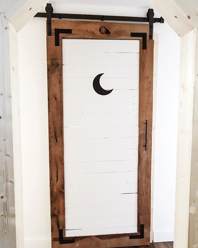 Painted a moon on my bathroom door because home design shouldn\u0027t be