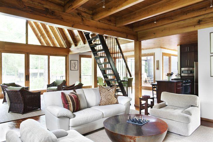 diseo de casa rural de madera y piedra fachada e interior construye hogar