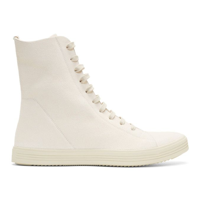 Rick Owens Off- Mastodon High-Top Sneakers 63C8QVt1