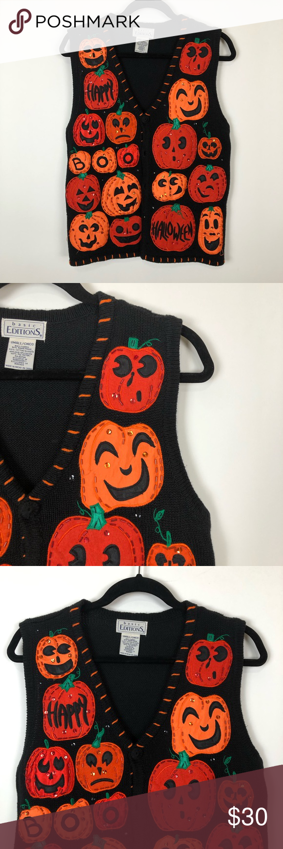 Vintage tacky spooky Halloween sweater vest small Vintage tacky spooky Halloween sweater vest small. Condition is Pre-owned. Shipped with USPS Priority Mail. Fun festive holiday attire, spooky, Halloween  Vintage tacky spooky Halloween sweater vest small Vintage tacky spooky Halloween sweater vest small. Condition is Pre-owned. Shipped with USPS Priority Mail. Fun festive holiday attire, spooky, Halloween #spookyoutfits
