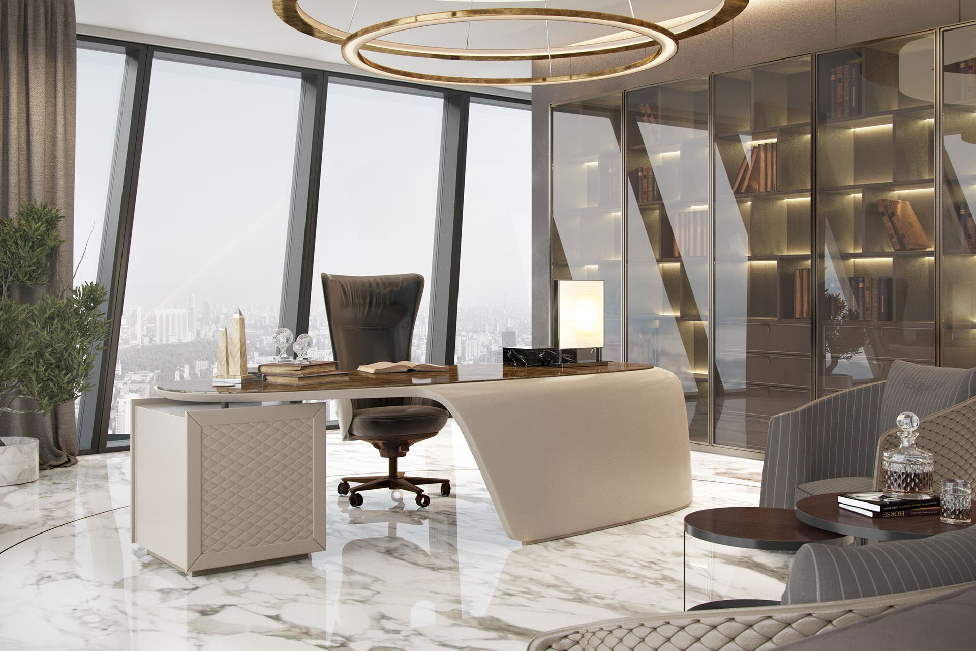 Luxurious Office On Behance Modern Office Interiors Unique Office Design Modern Office Design