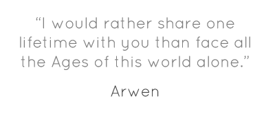 """I would rather share one lifetime with you than face..."