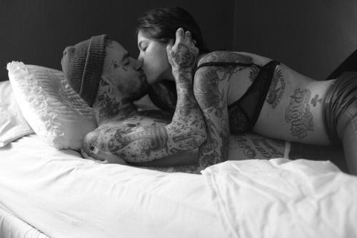 Sexy tattoo couples