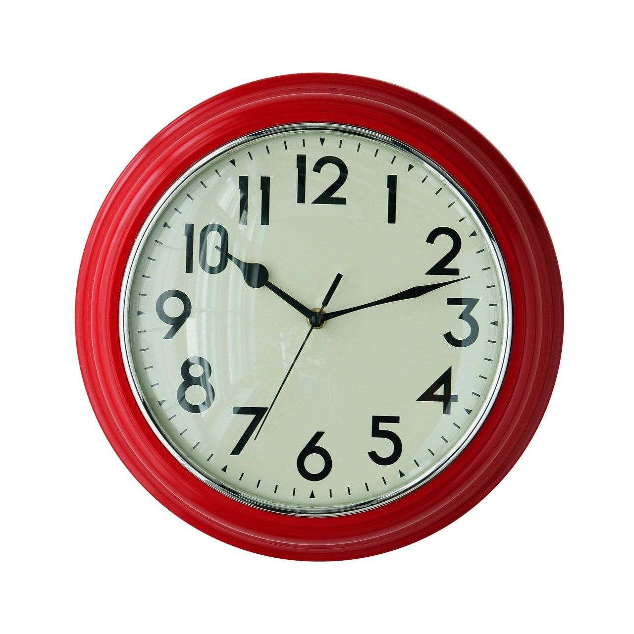 Premier housewares red wall clock 2200340 add a touch of premier housewares red wall clock 2200340 add a touch of warmth and luxury to amipublicfo Images