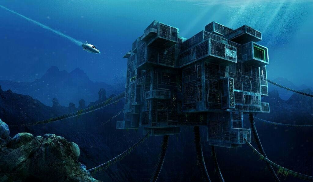One of the first Precursor base concept arts  | Underwater