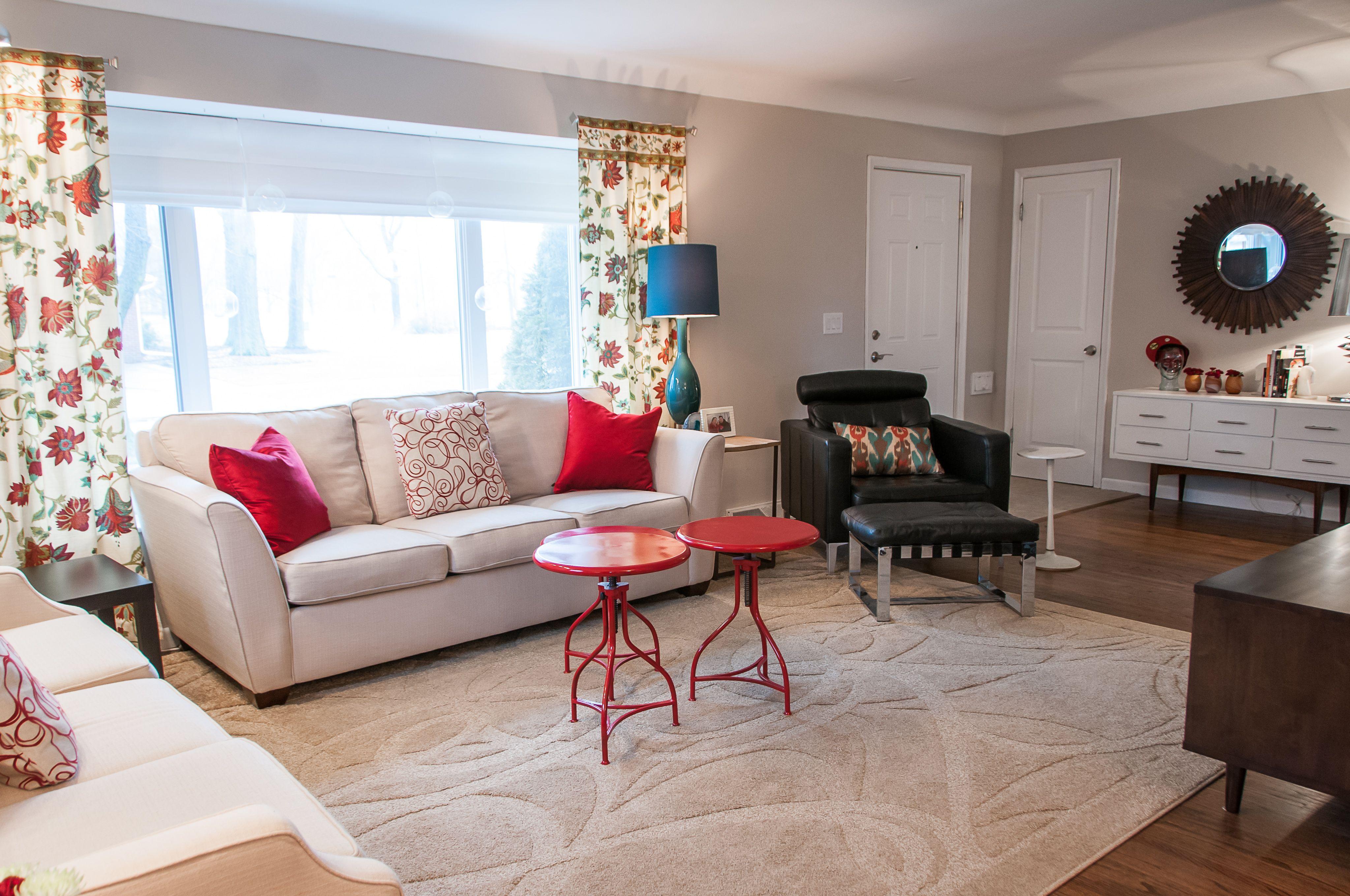 Living Room Design/ Gray Walls BM Collingwood/ L Shaped Room. Interior Decor Part 59