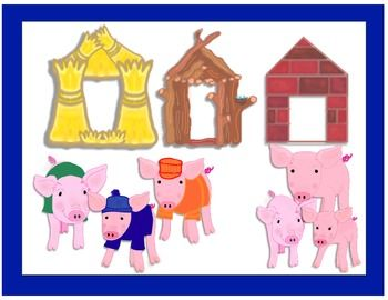This File Contains A Clip Art Of The Three Little Pigs HousesThe House