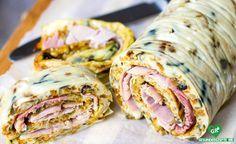 Omelett Wrap Mit Schinken Rezept Low Carb Pinterest
