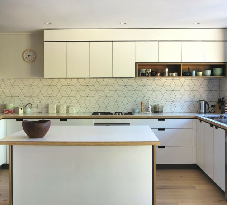 Kitchen Tiles And Splashbacks this geometric tile splashback with darker grout could be