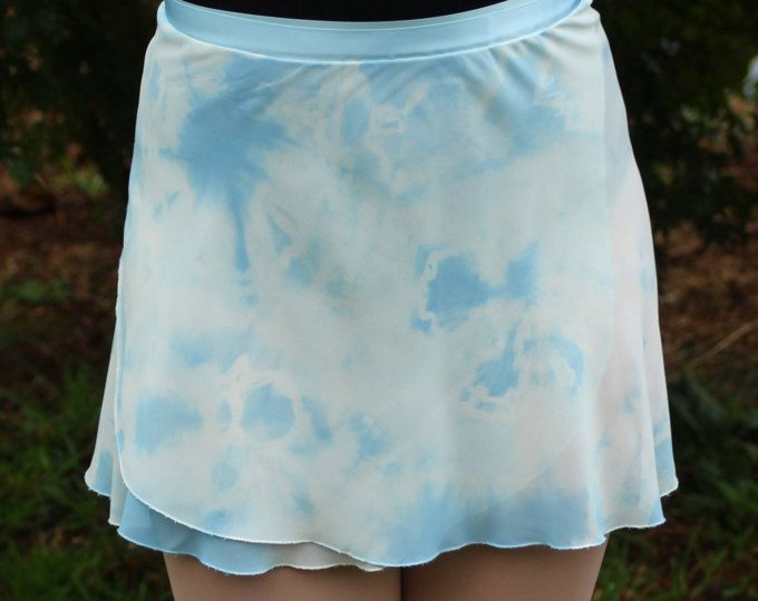 Blue Tie dye Ballet Wrap Skirt only $39.95 Browse unique skirts from MarysvilleByMeghan on Etsy.