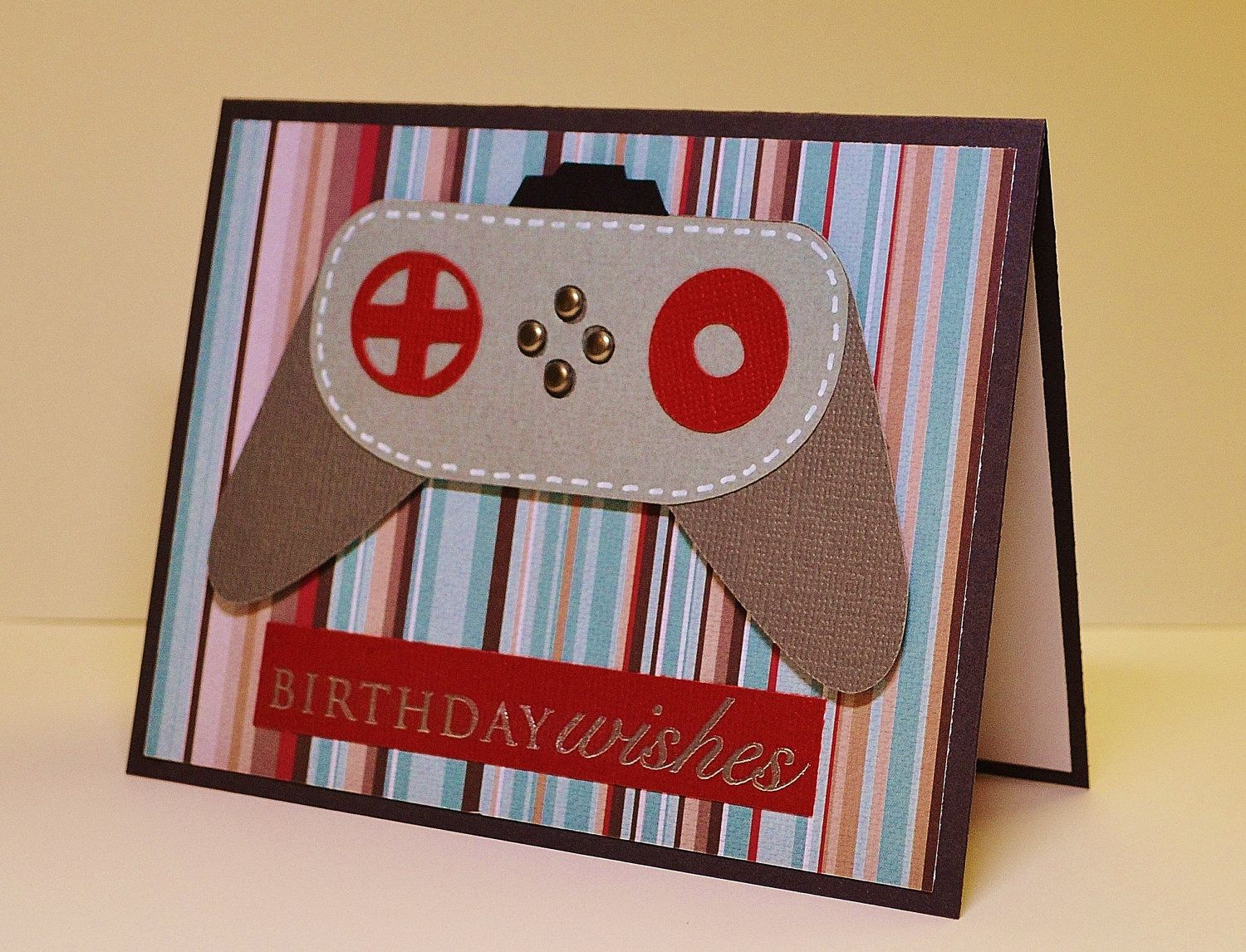 Masculine handmade birthday card video game geek birthday xbox