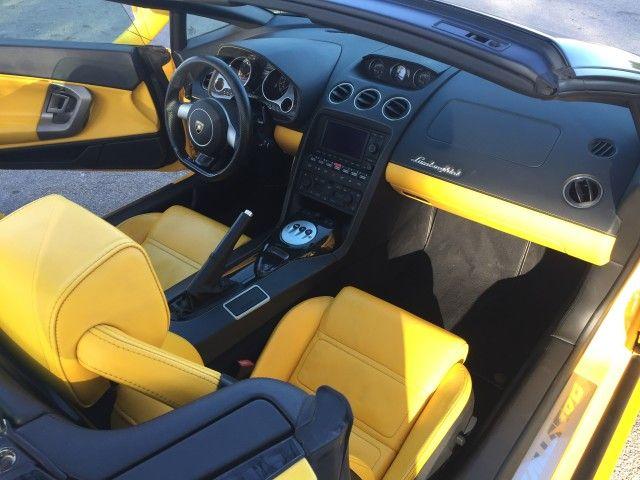 2008 lamborghini gallardo spyder lamborghini yellow and black interior