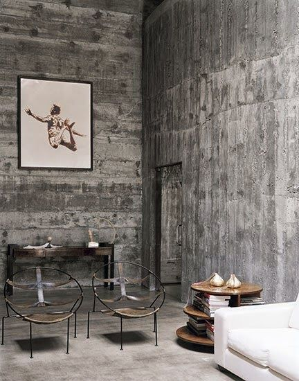 Paredes decoradas en concreto Paredes Concreto Pinterest - paredes de cemento