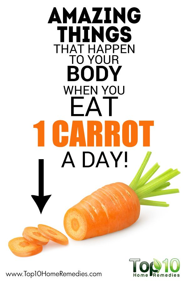 Amazing Things that Happen to Your Body When You Eat 1 Carrot a Day!