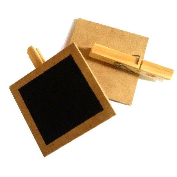 Mini Lousa / Plaquinha Giz quadrada