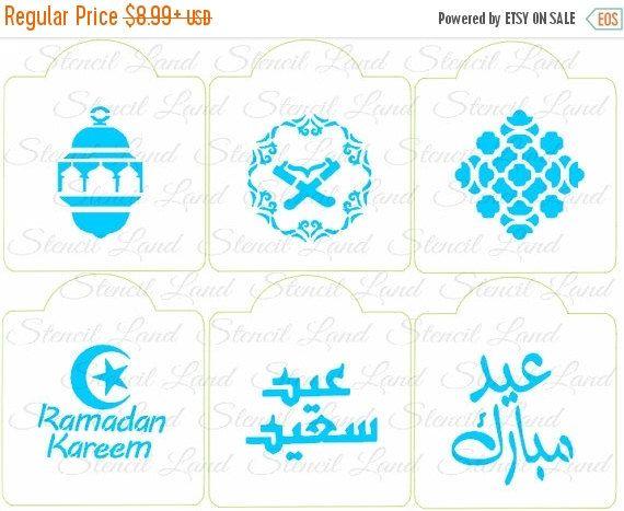 Umrah Banner: ON SALE Ramadan Kareem Stencils Eid Cookie Stencils By