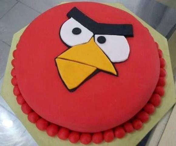 bolo artístico comestível angry birds
