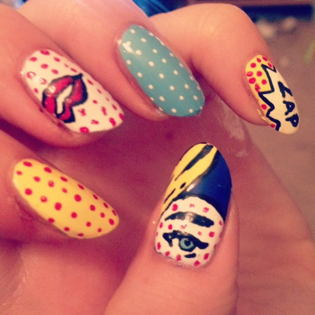 Pop art nails - For more information on nail art from JB, email us ...