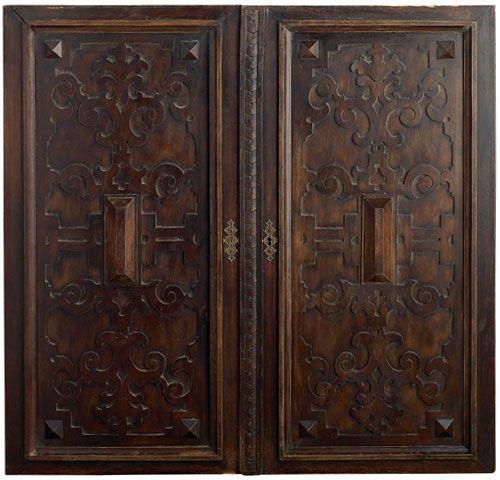 18th century spanish double door cabinet portera doors for Door in spanish
