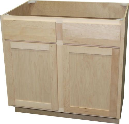 Quality One Trade 36 X 34 1 2 Unfinished Maple Sink Cooktop Base Cabinet With False Drawers Base Cabinets Kitchen Base Cabinets Lake House Kitchen